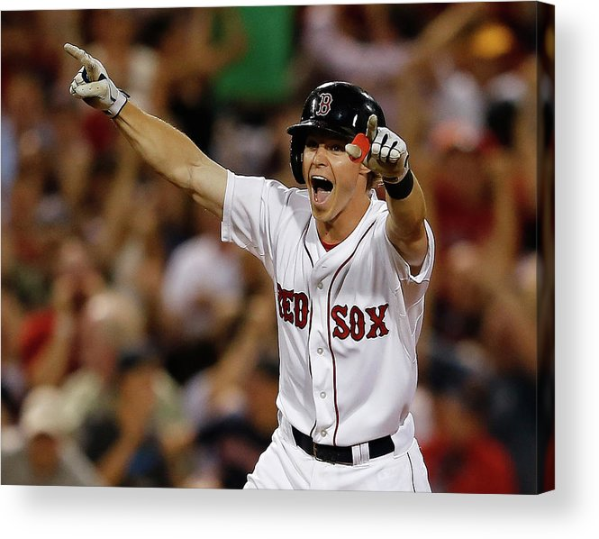 Ninth Inning Acrylic Print featuring the photograph Red Holt by Jim Rogash
