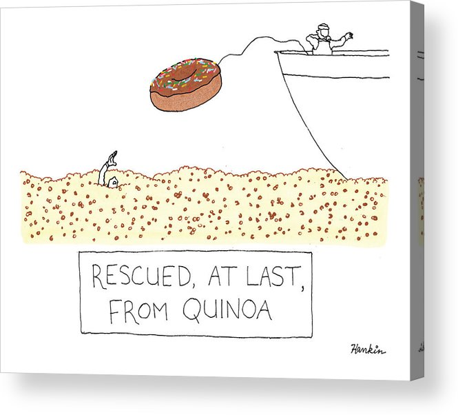 Captionless Acrylic Print featuring the drawing Rescued At Last by Charlie Hankin