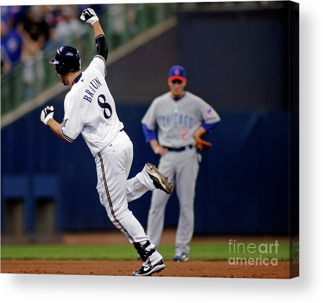 Celebration Acrylic Print featuring the photograph Ryan Braun by Darren Hauck