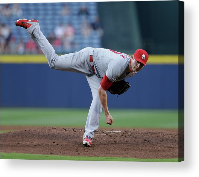 Atlanta Acrylic Print featuring the photograph Shelby Miller by Mike Zarrilli