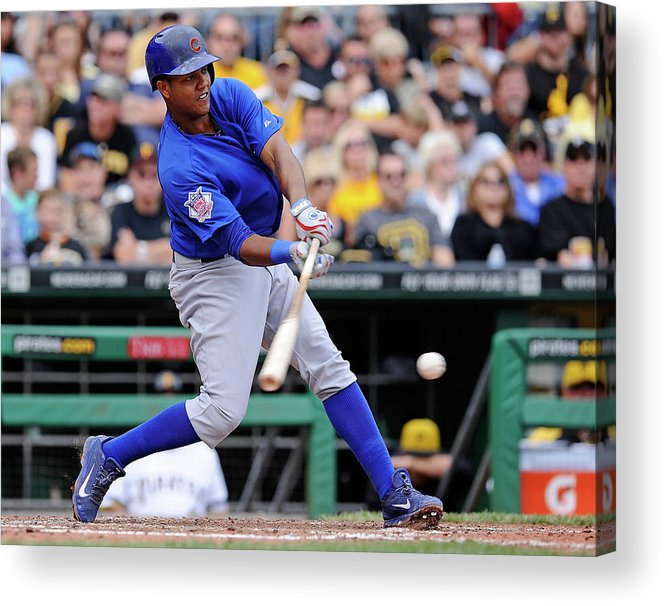 Pnc Park Acrylic Print featuring the photograph Starlin Castro by Joe Sargent