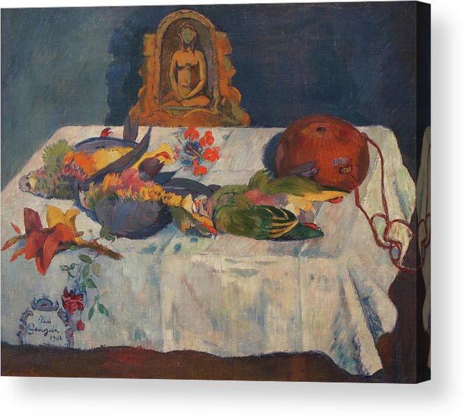Still-life With Parrots Acrylic Print featuring the painting Still-Life with Parrots by Paul Gauguin