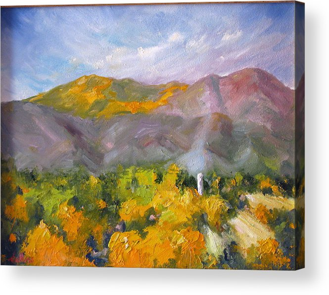 Taos Acrylic Print featuring the painting The Source 3 by David Sullins
