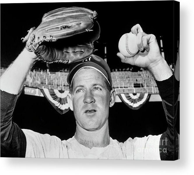 American League Baseball Acrylic Print featuring the photograph Whitey Ford by National Baseball Hall Of Fame Library
