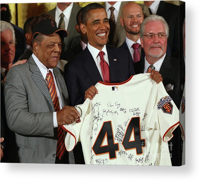 Event Acrylic Print featuring the photograph Willie Mays by Win Mcnamee