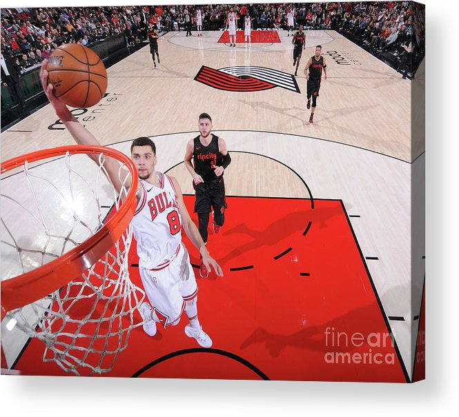 Chicago Bulls Acrylic Print featuring the photograph Zach Lavine by Sam Forencich