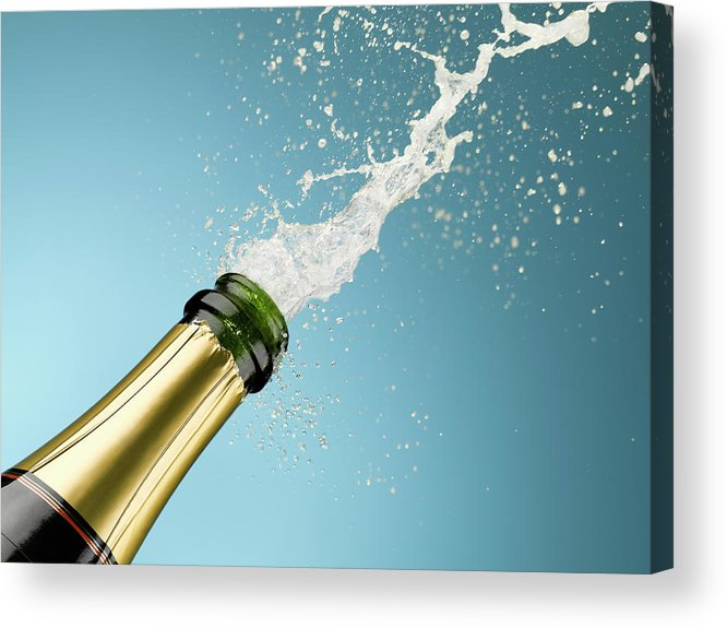 Celebration Acrylic Print featuring the photograph Champagne Exploding From Bottle by Andy Roberts