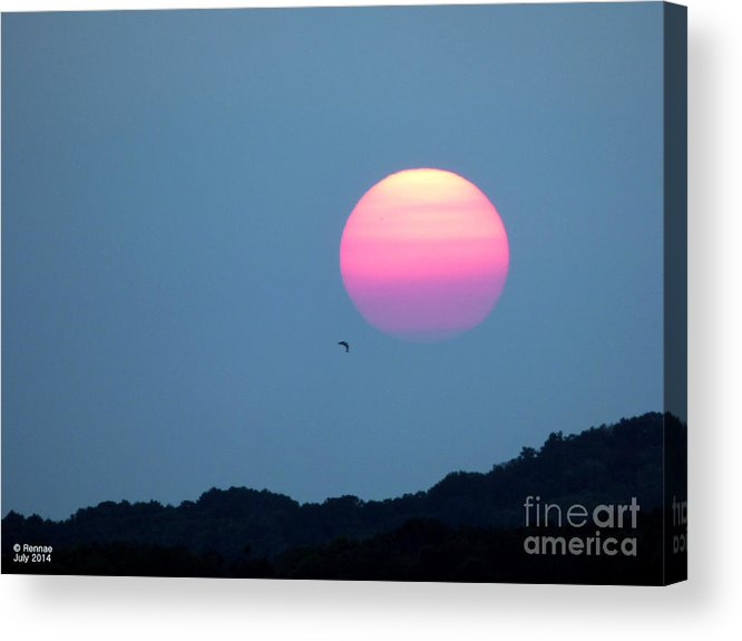 Landscape Acrylic Print featuring the photograph Delta Lake Sunset by Rennae Christman