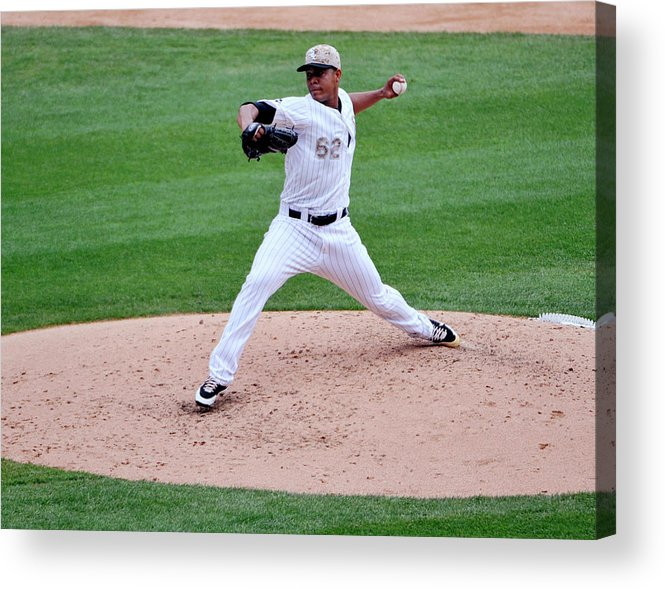 American League Baseball Acrylic Print featuring the photograph Cleveland Indians V Chicago White Sox by David Banks