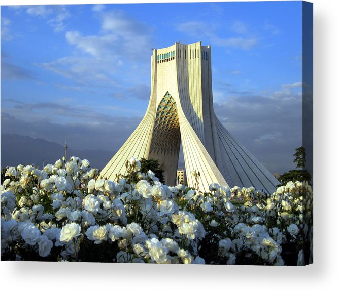 Tranquility Acrylic Print featuring the photograph Azadi Tower In Tehran by Photo By David Stanley