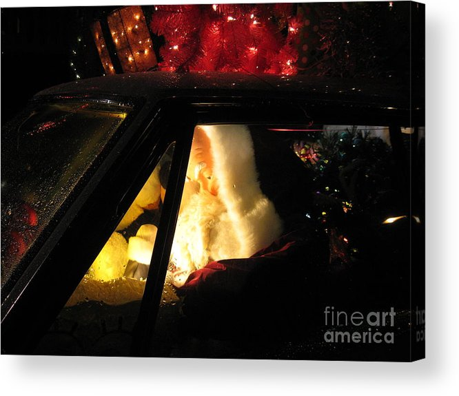 Christmas Acrylic Print featuring the photograph Checking It Twice by Nancy Dole McGuigan