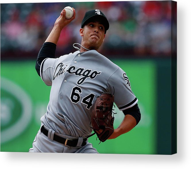 American League Baseball Acrylic Print featuring the photograph Chicago White Sox V Texas Rangers by Tom Pennington