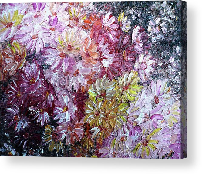 Flowers Acrylic Print featuring the painting Daisy Mix  Sold by Karin Dawn Kelshall- Best