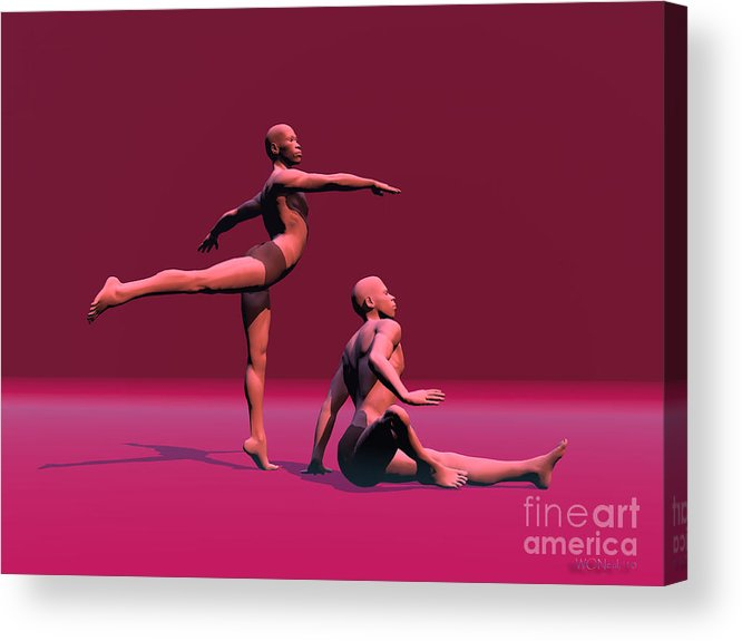 Portraits Acrylic Print featuring the digital art Dance Of Atonement by Walter Neal