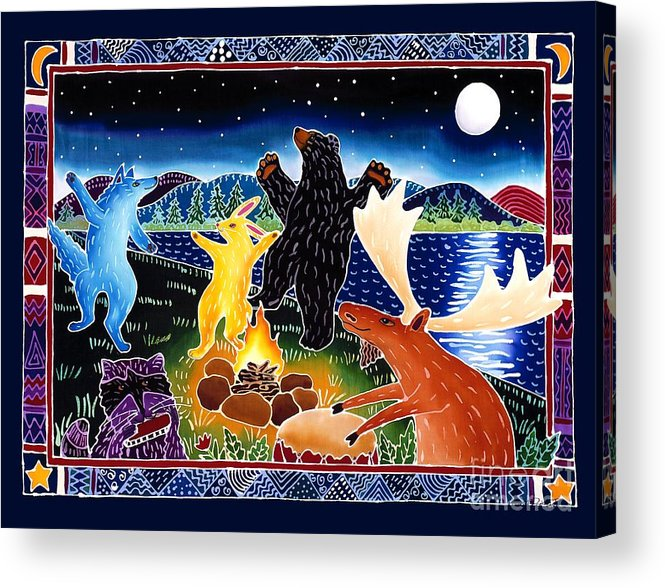 Playfyl Acrylic Print featuring the painting Dancing in the Moonlight by Harriet Peck Taylor