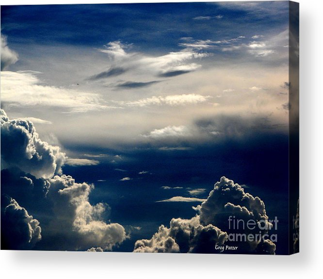 Art For The Wall...patzer Photography Acrylic Print featuring the photograph Deep Blue by Greg Patzer
