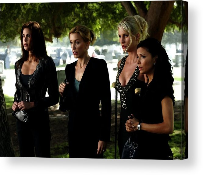 Art Prints Acrylic Print featuring the digital art Desperate Housewives TV serie - 1 by Gabriel T Toro