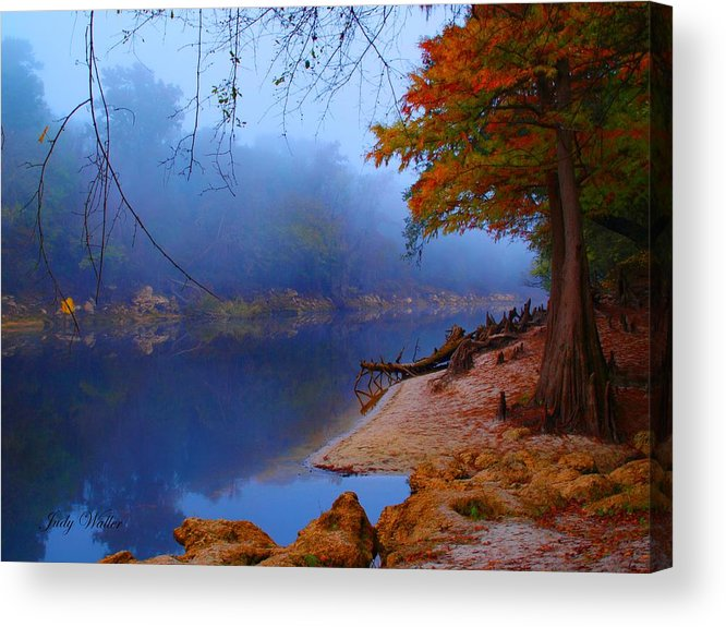 Tres Acrylic Print featuring the photograph Fall On The Suwannee River by Judy Waller