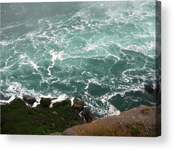 Waterfall Acrylic Print featuring the photograph From Above by Dervent Wiltshire