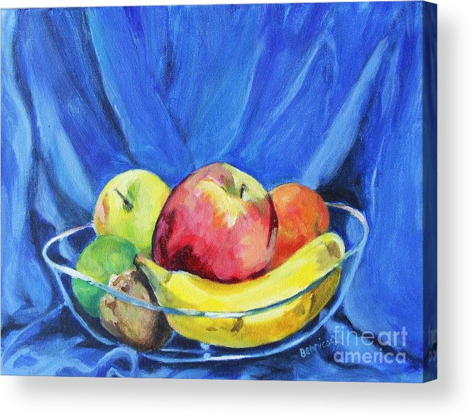 Still Life Acrylic Print featuring the painting Fruit Bowl by Jan Bennicoff