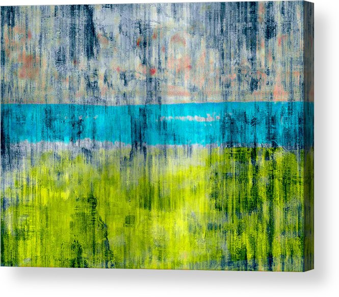 Color Acrylic Print featuring the digital art Green and blue by Joseph Ferguson