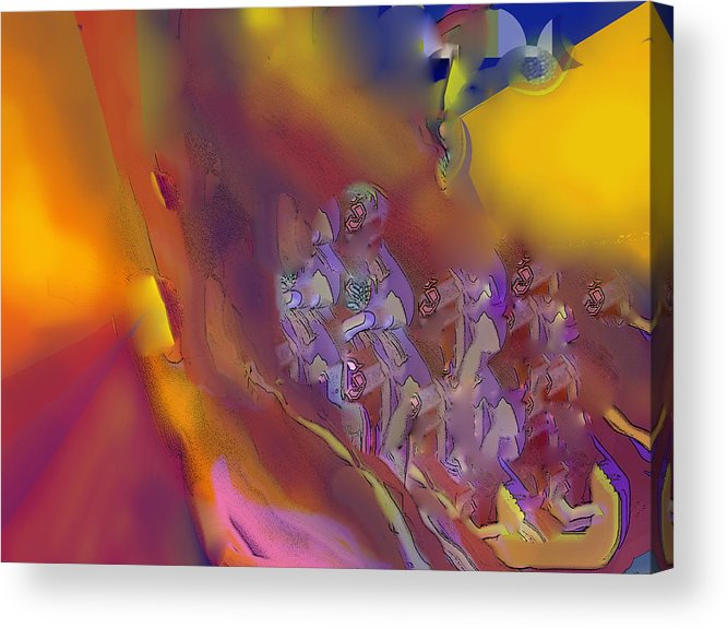 Abstract Acrylic Print featuring the digital art Invasion by Ian MacDonald