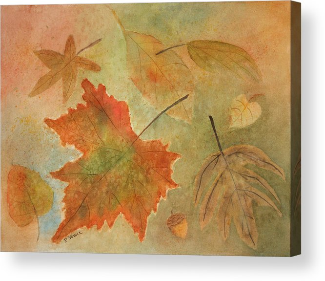 Leaves Acrylic Print featuring the painting Leaves Vll by Patricia Novack