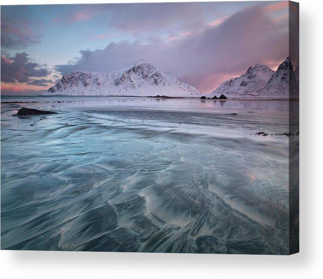 Scenics Acrylic Print featuring the photograph Lofoten Island Sunrise by Antonyspencer