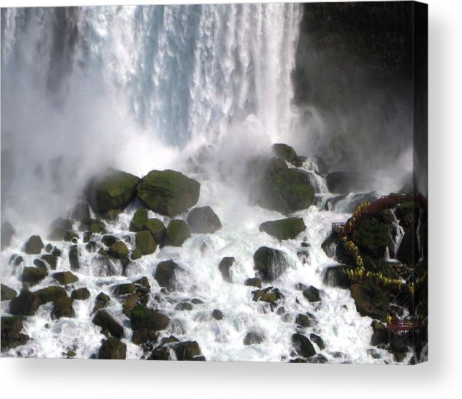 Waterfall Acrylic Print featuring the photograph On the Rocks by Dervent Wiltshire