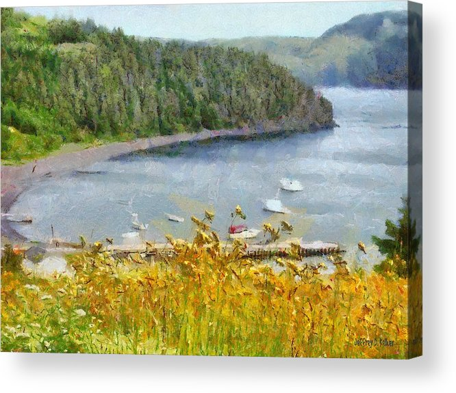 Canadian Acrylic Print featuring the painting Overlooking the Harbor by Jeffrey Kolker