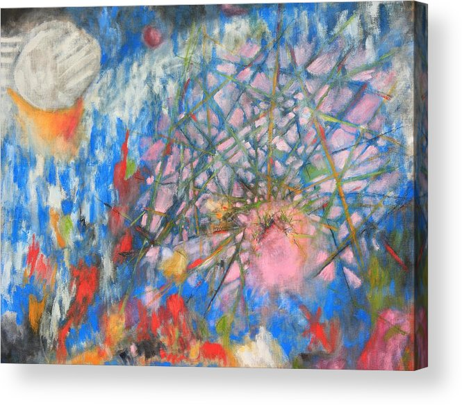 Jesus Acrylic Print featuring the painting Pink Jesus by Michael Henderson