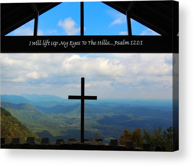 Cross Acrylic Print featuring the photograph Psalm 121 by Judy Waller