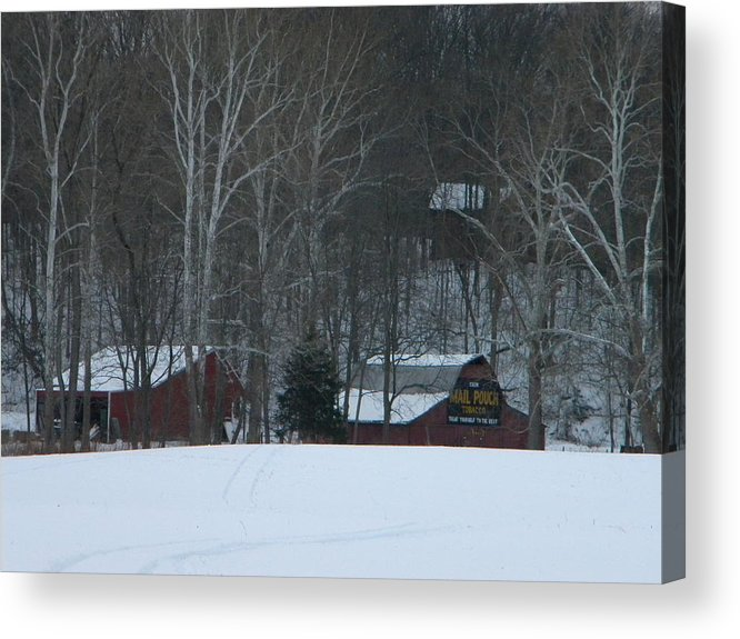 Snow Acrylic Print featuring the photograph Putnam County Farm in Winter by Helen ONeal
