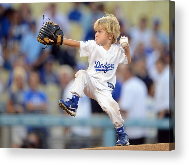 California Acrylic Print featuring the photograph San Diego Padres v Los Angeles Dodgers by Harry How