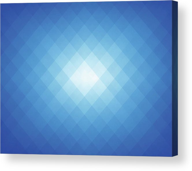 Empty Acrylic Print featuring the digital art Simple Blue Pixels Background by Simon2579