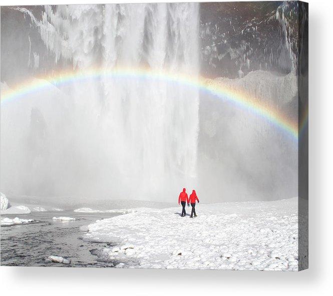 Scenics Acrylic Print featuring the photograph Skogafoss Waterfall, Iceland by Travelpix Ltd
