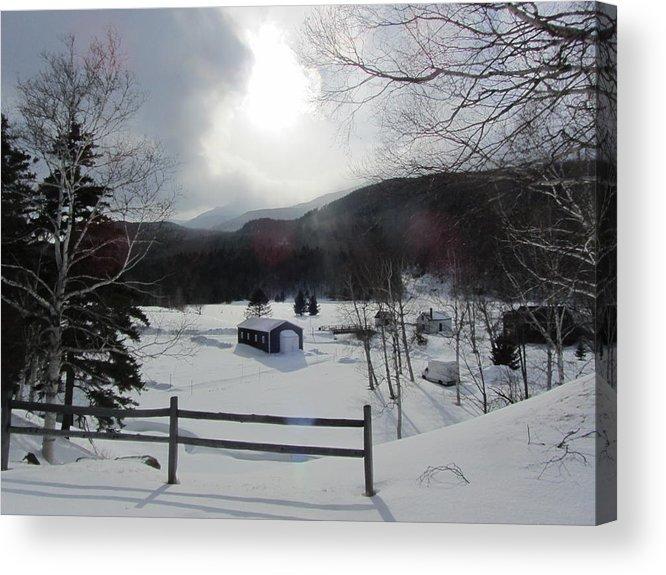 Snow Acrylic Print featuring the photograph Winter Light by Deborah Flusberg