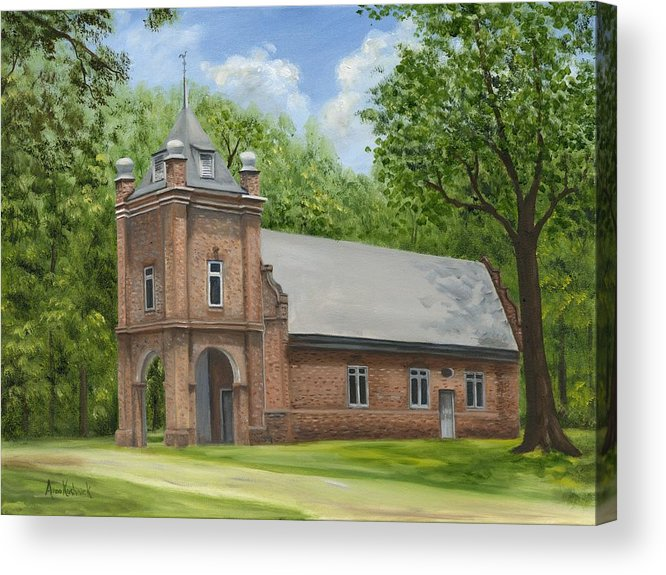 Historic Church Acrylic Print featuring the painting St. Peter's Church by Anne Kushnick