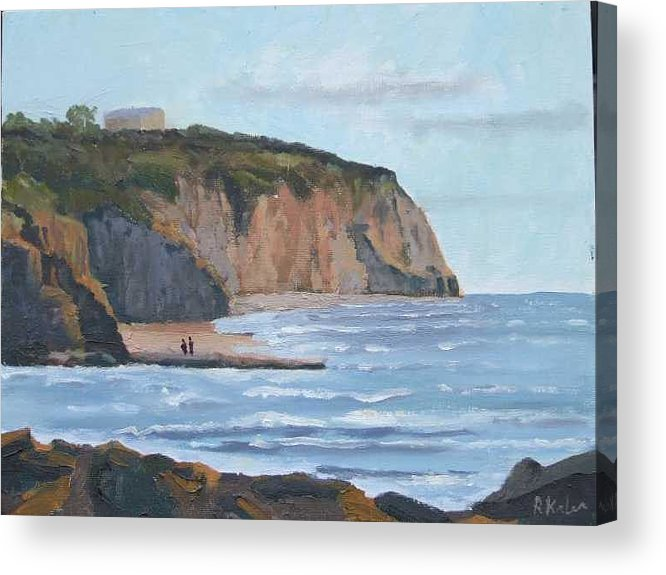 Acrylic Print featuring the painting Sunset Cliffs CA by Raymond Kaler