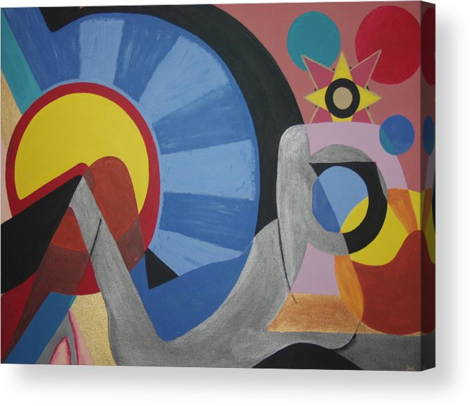 Abstract Acrylic Print featuring the painting Sweet Dreams are made of these by Dean Stephens
