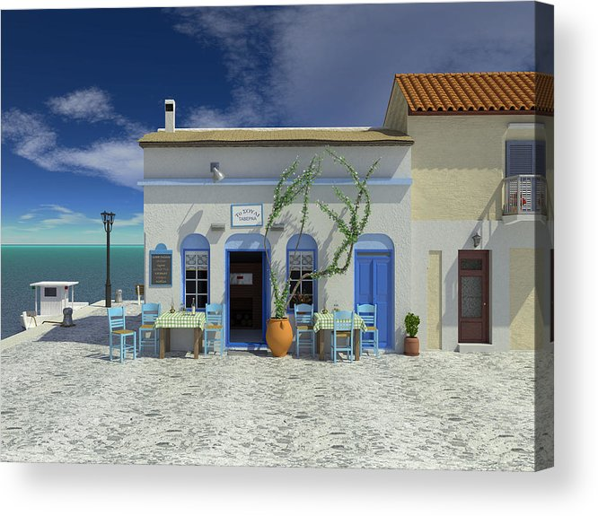 Taverna Acrylic Print featuring the digital art Taverna by Paul McManus
