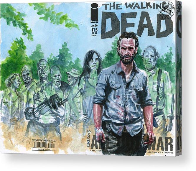 Walking Dead Acrylic Print featuring the painting Walking Dead Ghosts by Ken Meyer jr