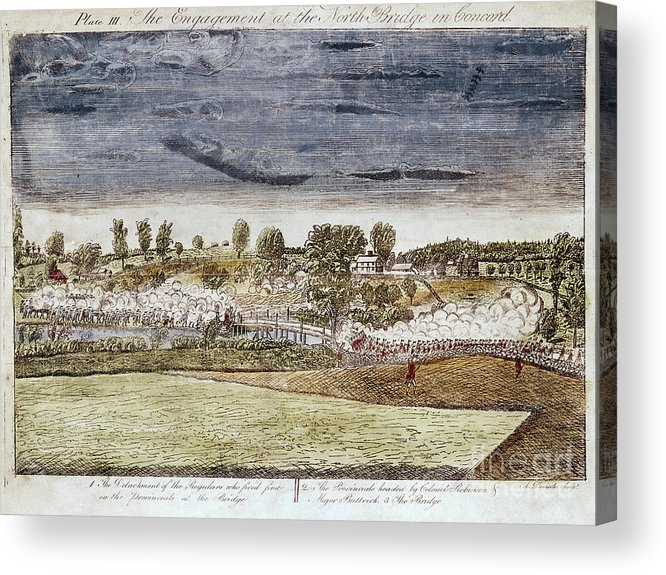 1775 Acrylic Print featuring the photograph Battle Of Concord, 1775 by Granger
