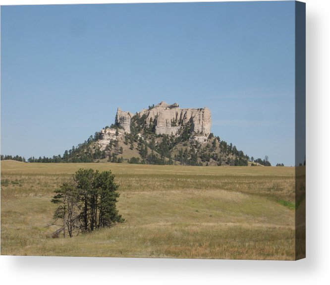 High Plains Acrylic Print featuring the photograph Crow Butte by J W Kelly