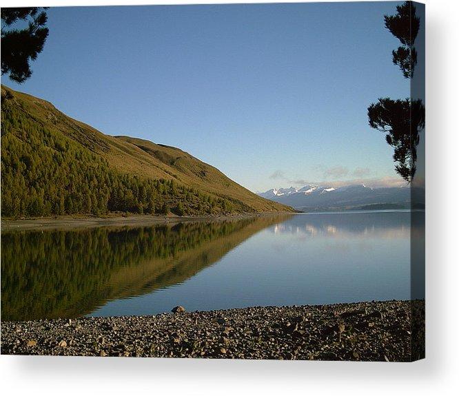 Lake Twkapo Acrylic Print featuring the photograph Lake Tekapo by Joyce Woodhouse
