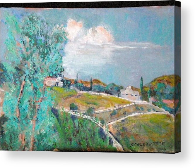 Valley Center Acrylic Print featuring the painting Looking East From Tater's Ranch by Bryan Alexander