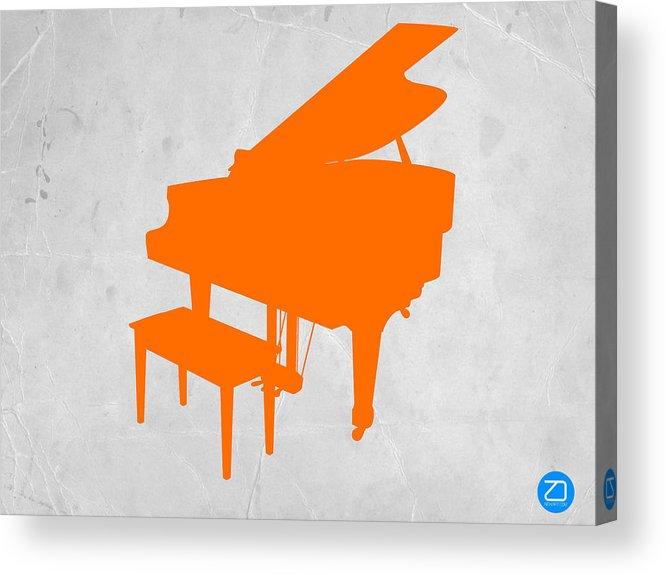 Piano Acrylic Print featuring the photograph Orange Piano by Naxart Studio