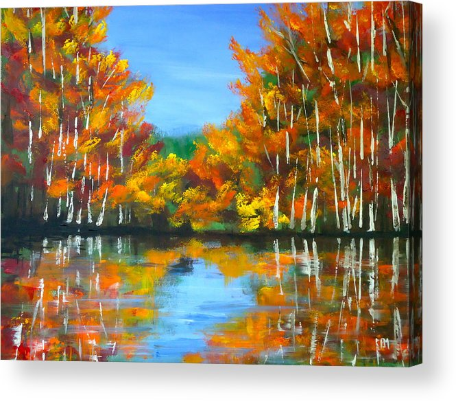 Lake Acrylic Print featuring the painting Painted Lake by Pete Maier