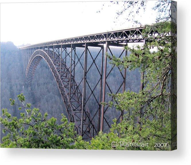 New River Gorge Bridge Acrylic Print featuring the photograph New River Gorge Bridge by Carolyn Postelwait