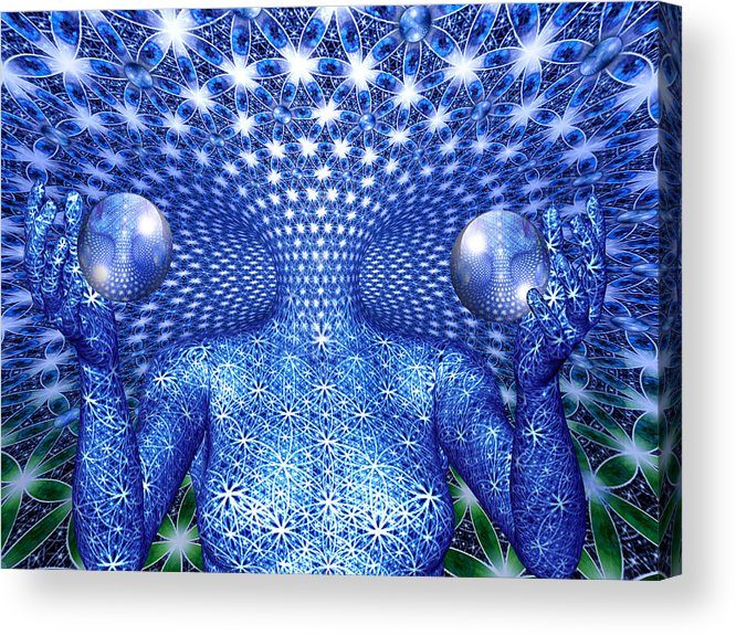 Duality Acrylic Print featuring the painting The Invention of Duality by Robby Donaghey